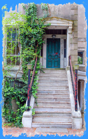 Bluedoorandstairs